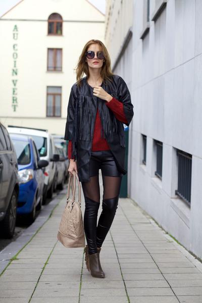 style moi jacket - New Dress leggings