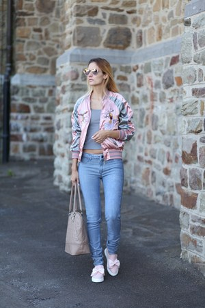 zaful jacket - GAMISS sunglasses - GAMISS flats