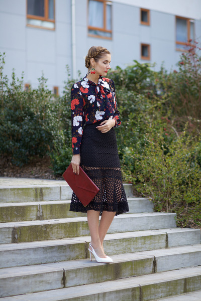 Chicwish top - Chicwish skirt - Choies earrings