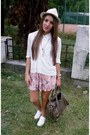 Cream-meli-melo-hat-white-new-look-shoes-light-pink-handmade-dress