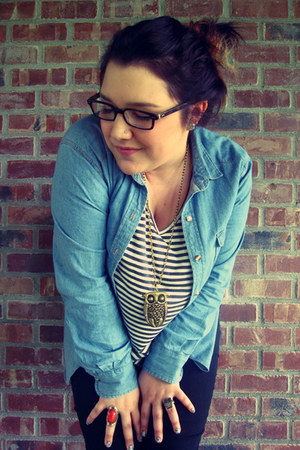 Urban Outfitters jeans - Target shirt - jean shirt Urban Outfitters shirt - owl 