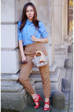 beige Zara bag - beige H&M pants