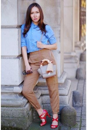 beige Zara bag - beige H&M pants