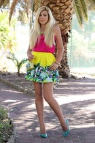 yellow tropical Forever New skirt