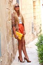 camel leopard cuff Zara blazer
