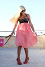 Peach-pleated-boohoo-skirt