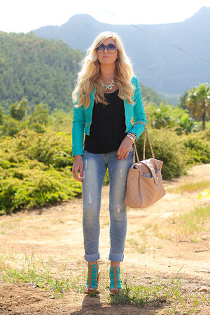 turquoise blue traffic jacket