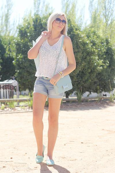 light blue romwe shorts
