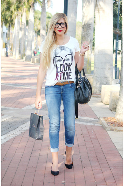 white Zara t-shirt