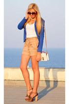 blue boyfriend Zara blazer