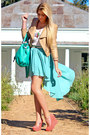 Aquamarine-hi-lo-chicwish-skirt