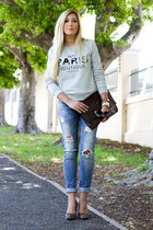 heather gray Mango sweater
