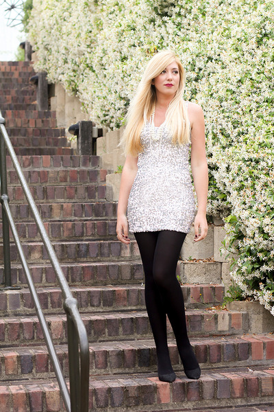 silver lookbookstore dress
