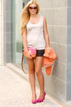 orange Zara blazer