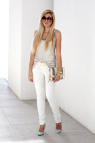 white Woolworths jeans