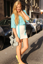 sky blue sheer Boohoo shirt