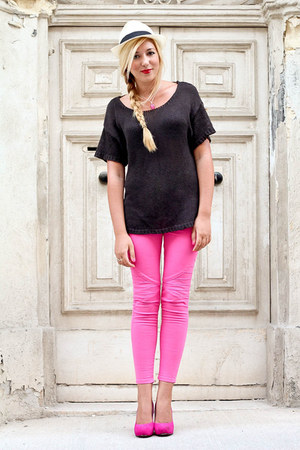 hot pink Zara pants