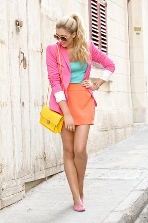 hot pink Zara jacket