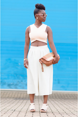 Boohoo top - culottes asos pants - strappy Office sandals