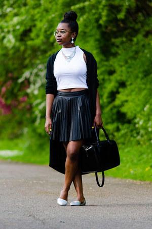 long cardigan H&M cardigan - silver Firetrap shoes - tote Zara bag