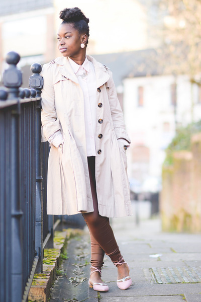 pastel Primark blouse - trench Primark coat - high-waisted Parisian jeans
