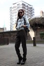 Blue-random-from-china-jacket-brown-zara-pants-black-jennifer-purse-black-