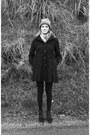 Dark-brown-tommy-hilfiger-shoes-black-asos-coat-brown-hat