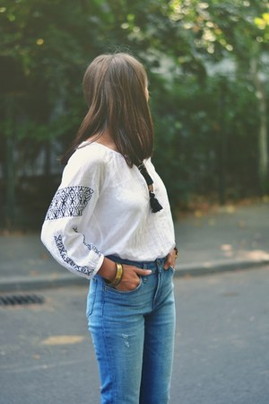 ethnic shirt Pull & Bear shirt - Zara jeans - watch
