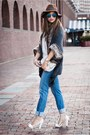 Blue-jeans-brown-marshall-accessorize-hat-white-michael-kors-bag-gray-cape