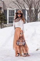 neutral naveda couture skirt - brown floppy hat Accessorize hat