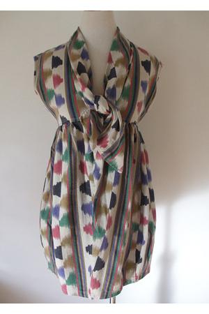 Mociun Ikat Print Dress