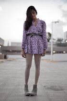 Jeffrey Campbell shoes - vintage dress