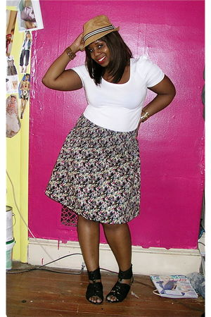 Arden B hat - H&M shirt - H&M skirt - Zara shoes - Forever 21 bracelet - random
