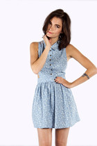 Ditsy Floral Denim Dress