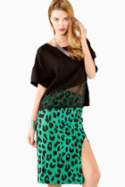 Electric Leopard Skirt