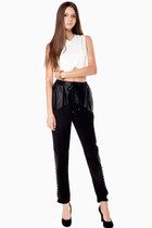 Leather Contrast Trouser Pants