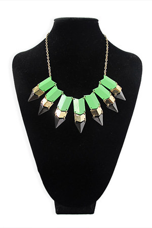 lime green StyleSofia necklace