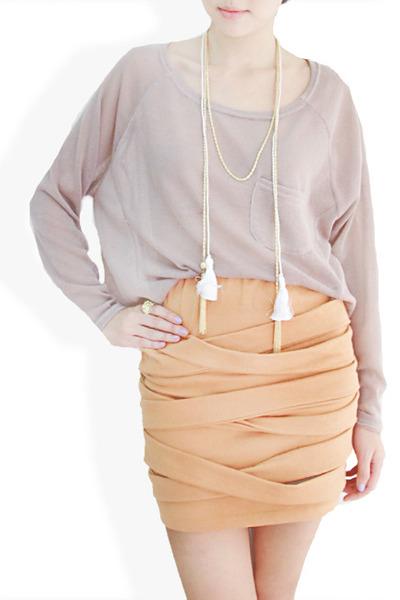 nude StyleSofia skirt - white StyleSofia necklace