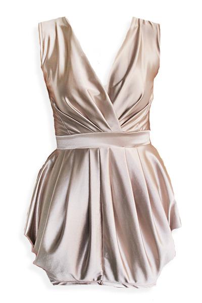 beige champagne STYLESOFIACOM dress