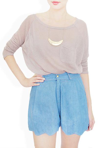 sky blue StyleSofia shorts