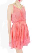 coral coral tie dress StyleSofia dress