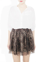 dark brown StyleSofia skirt