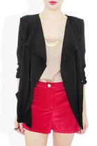 black layered StyleSofia blazer