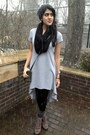 Light-brown-boots-shoemint-shoes-heather-gray-high-low-forever21-dress