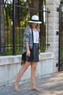 Kimono-sheinside-jacket-black-h-m-skirt-white-asos-top