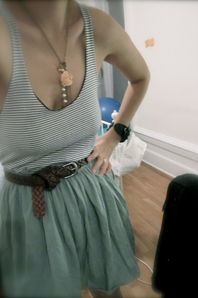aquamarine American Apparel skirt