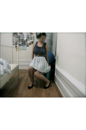 periwinkle high waisted Urban Outfitters skirt