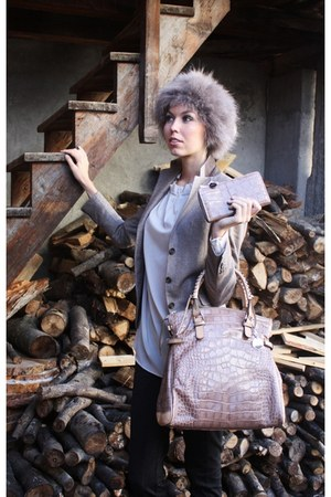 funk hat - Tagliatore blazer - St Emilie bag - Van Laack blouse