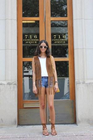 Zara vest - suede sandals Schutz sandals