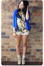 Gold-vintage-blouse-blue-vintage-cardigan-cream-shorts-cream-modcloth-sock